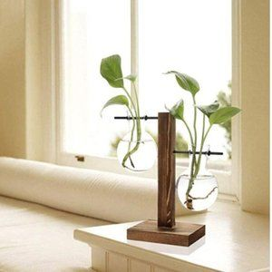 Wooden Plant Stand (Glass NOT included)